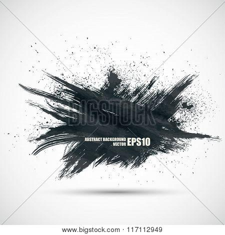 Abstract dark background vector grunge ragged