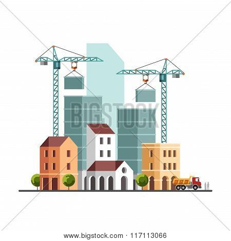 Construction Site Under Construction Building Business Construction Industry