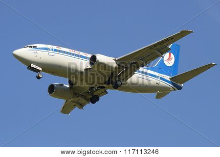 Flying the plane Boeing 737-500 (EW-253PA) company Belavia