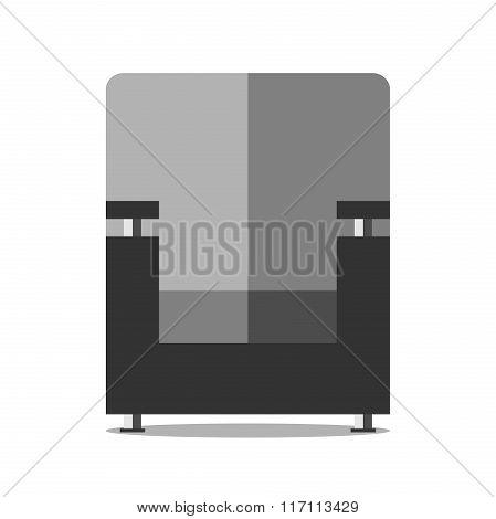Black Armchair Isolated