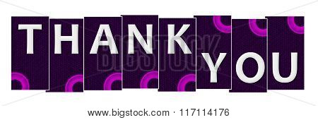Thank You Purple Pink Stripes Rings