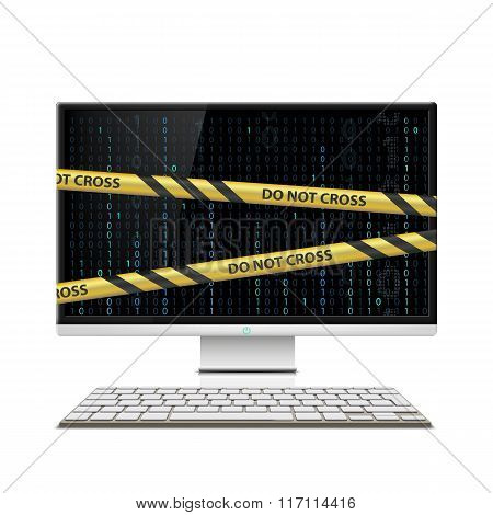Cybercrime. Computer Monitor