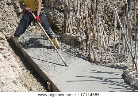 Spreading and Smoothing Concrete