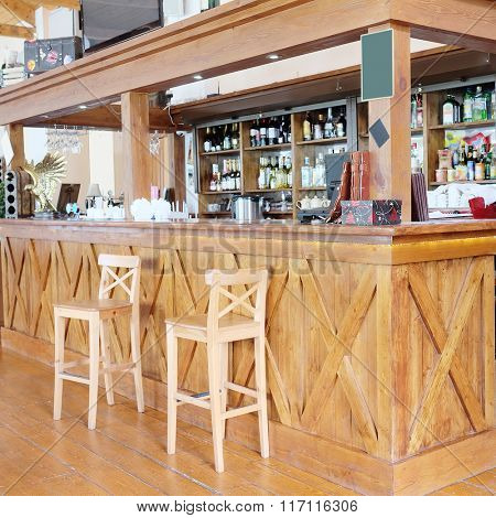 Interior of a bar or restaurant