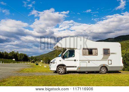 Mobile Home At Campsite