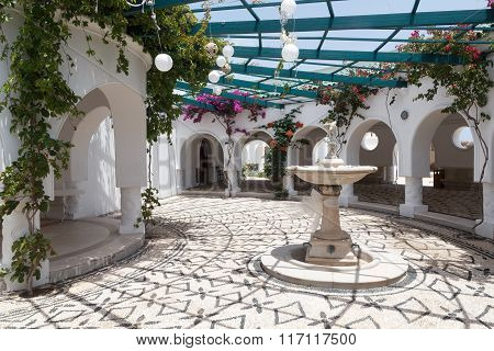 Thermal bath spa Kalithea Springs in Rhodes Greece