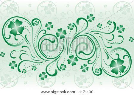 Clover Background Swirls