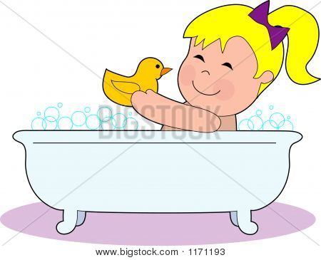 Girl Tub Bubbles