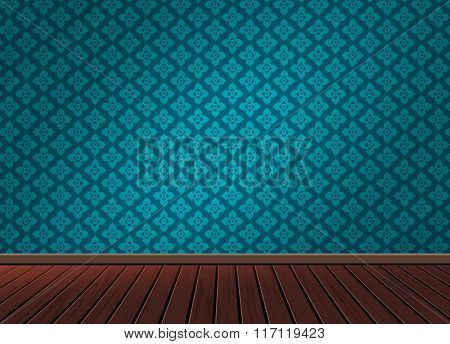 Pattern background texture with wooden floor in vintage style