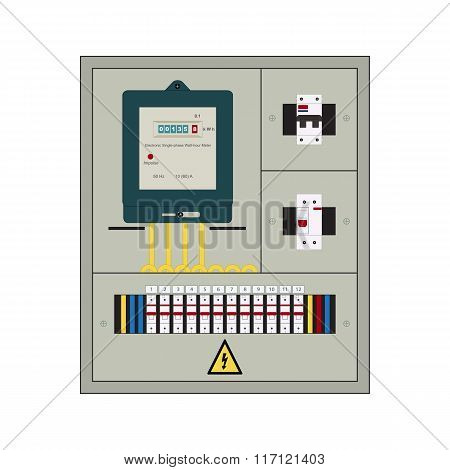 Electrical panel, box