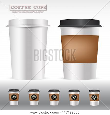 Packaging of isolated coffee cups