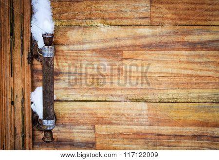 Old Rusty Iron Door Handle