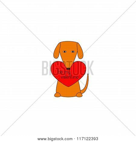 Valentines Day Card With Dog