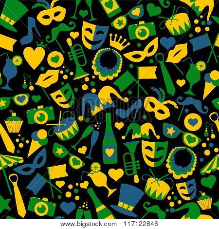 Seamless Pattern Of Carnival
