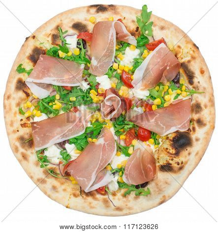 Italian Pizza Isolated On White