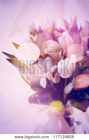 Pink Abstract Picture Of Spring Flowers