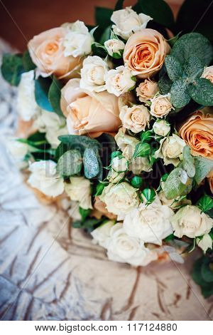 Luxurious Bouquet With White And Cream Roses