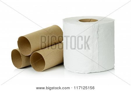 Tissue Isolated On The White Background