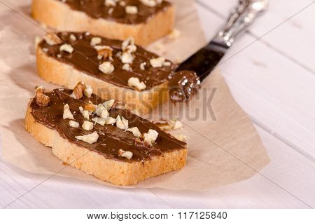 Breakfast - A Sandwich With Chocolate