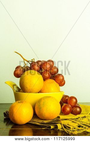 Orange And Grape