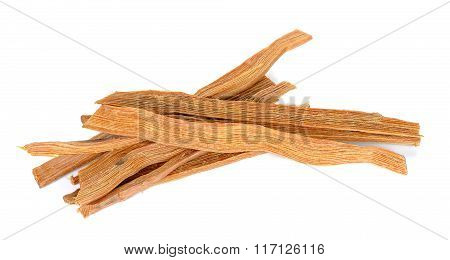 Fatwood Isolated On The  White Background