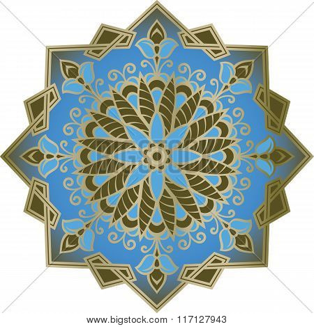 Oriental Floral Ornament.