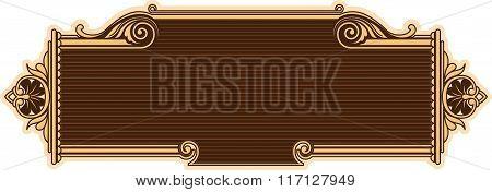 Ornamental Frame In Baroque Style.
