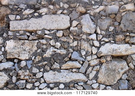 Gray Stone Wall  Background Texture