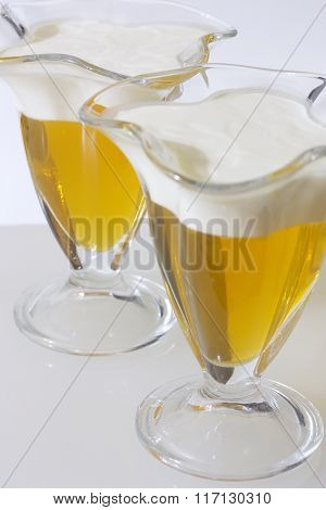Jelly Made with Syrup, Cream And Gelatine