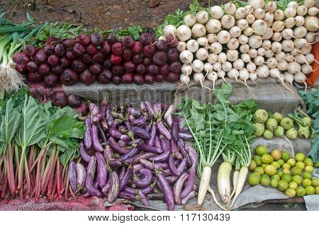Simple Vegetables Counter