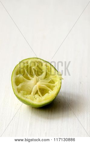 Squeezed Slice Of Lime
