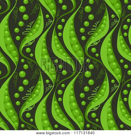 Green Peas Seamless Pattern Background
