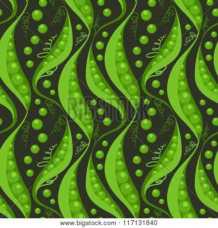 Green Peas Seamless Pattern Background