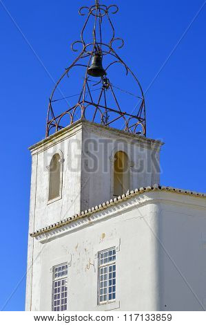 Albufeira old town the historical bell tower of Torre de Relogio