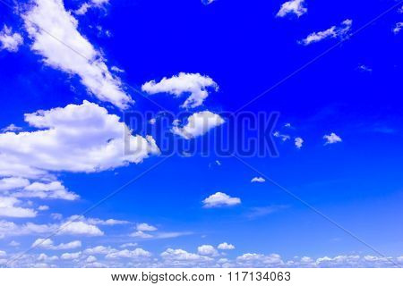 sky Background beautiful blue  with white clouds.