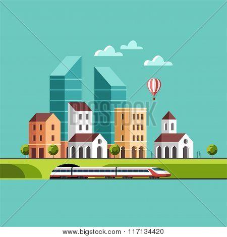 Big City Cityscape Urban Landscape and City Life