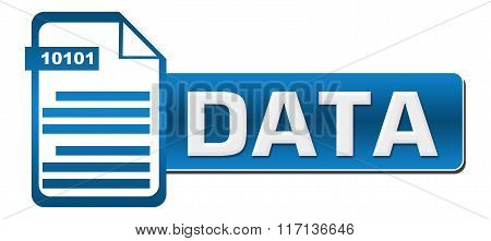 Data With File Icon Blue File Icon Horizontal