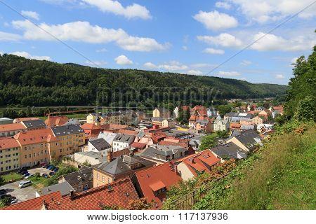 Cityscape Of Bad Schandau In Saxon Switzerland