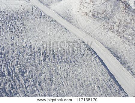 Snow, Ski Track, Winter Mountains, Sochi, Russia