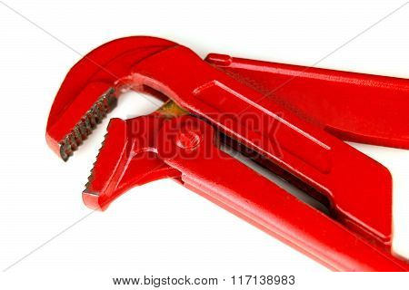 Red water pump pliers. Isolation.