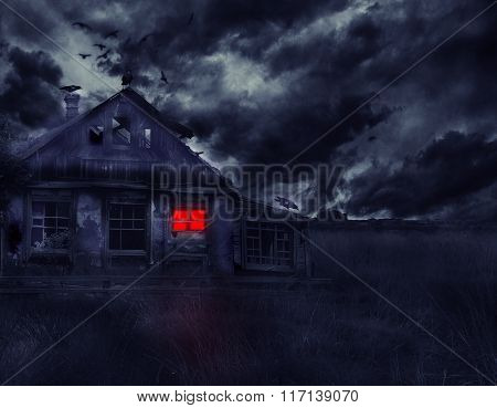 Old Abandoned House With Ghosts