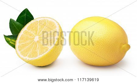 Whole And Halved Lemons
