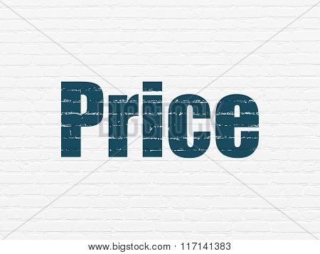 Marketing concept: Price on wall background