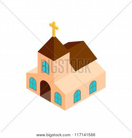 Church isometric 3d icon