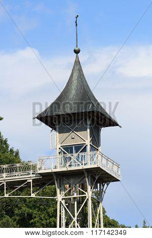 Historical Bad Schandau Elevator To Ostrau In Saxon Switzerland