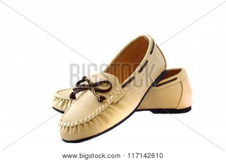 Boat Shoes On White Background