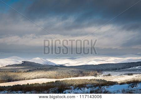 Cheviot Hills Under Snow