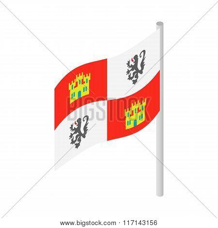Royal Spanish flag on Columbus ship icon
