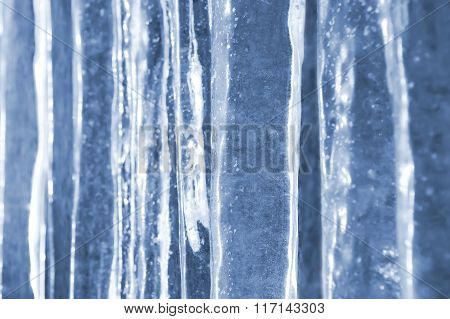 Background of icicles