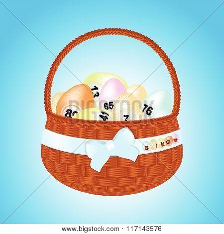 Easter Basket With Bingo Eggs